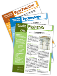 Image showing three Innovative Instructor types: Pedagogy, Technology, Best Practices