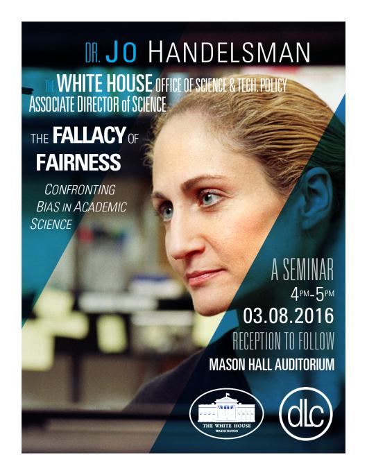 Poster for Dr. Jo Handelsman seminar held on March 8, 2016.