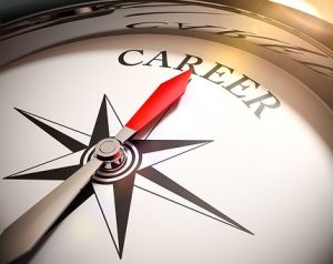 Compass pointing to the word Career